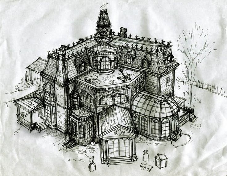 60 S Mods Houses Drawings Intermission Drawing The Addams Family House Part