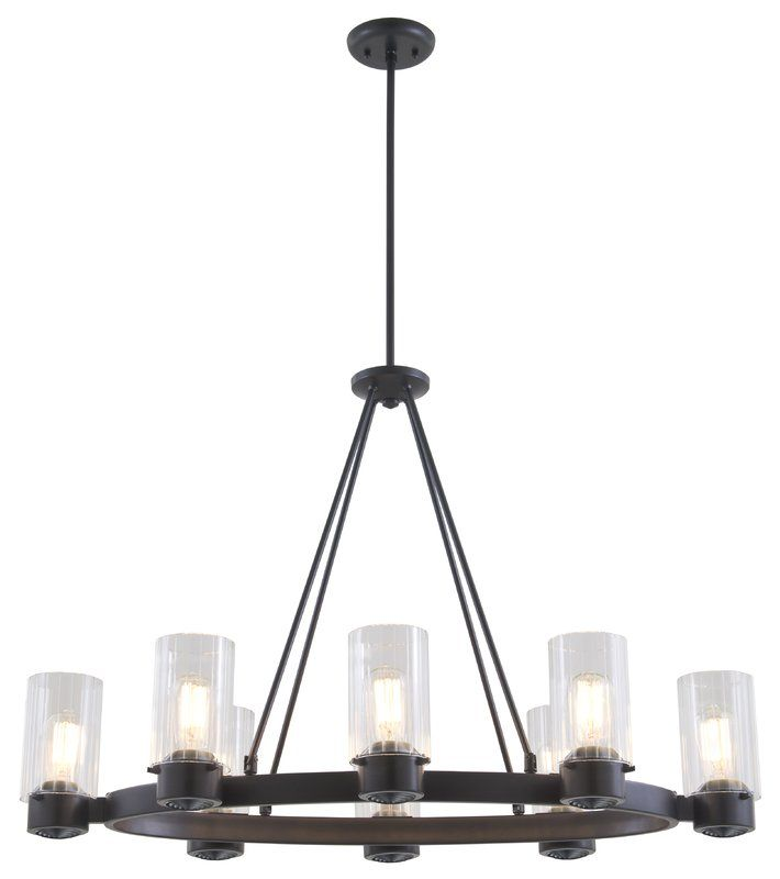 Essex Special Edition 8-Light Wagon Wheel Chandelier In