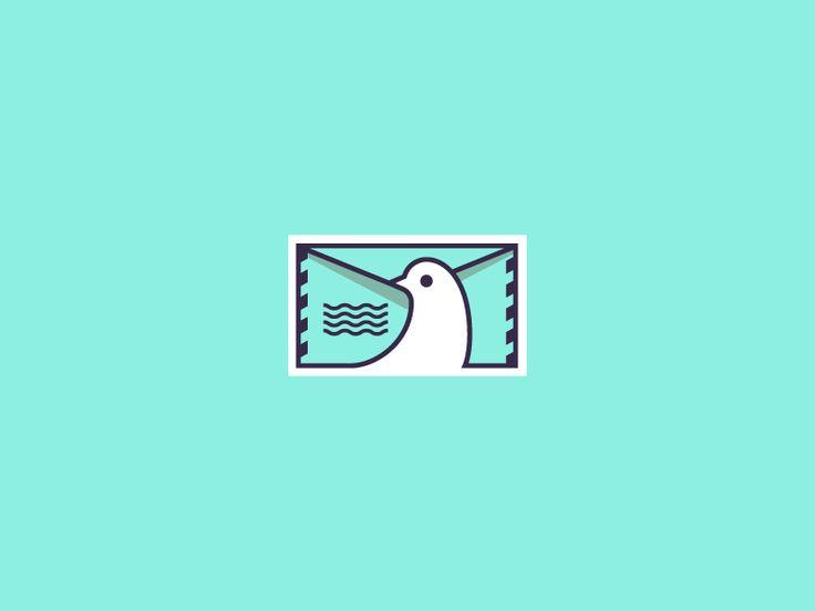 Post Pigeon by Logo machine #Design Popular #Dribbble #shots