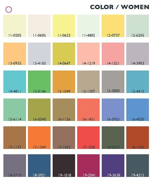 Trend colors spring/summer 2013/14 women. So that's practically all of them, right? I can wear ANY color, and it's trendy....
