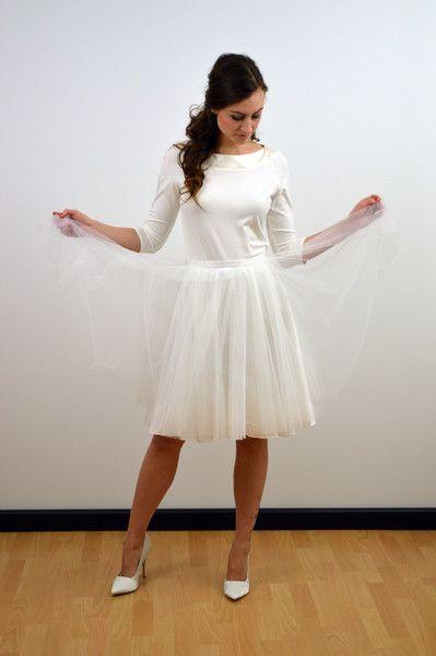 """Tüllrock+""""Madeleine""""+Braut+weiß,Petticoat,Satin+von+friederikezobel-Brautmode+auf+DaWanda.com"""