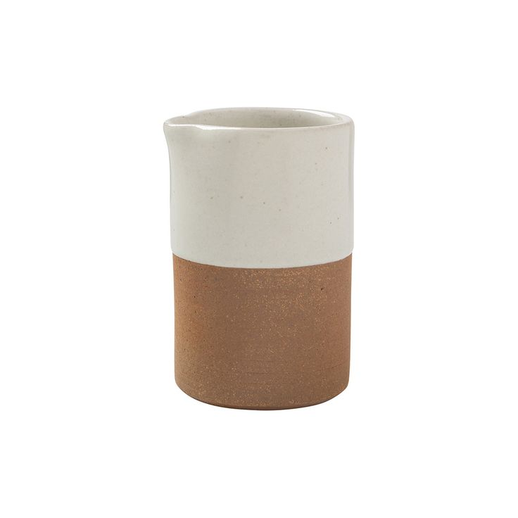 White dip ceramic jug. Sourced from Fair Trade artisan supplier.   $29.95 available from www.Scandinalia.com.au