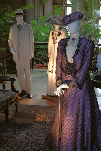 """Lovely shots by @asheville showing just a handful of the costumes you'll see at """"Dressing Downton,"""" Feb. 5 - May 25. More info: http://biltmore.com/downton"""
