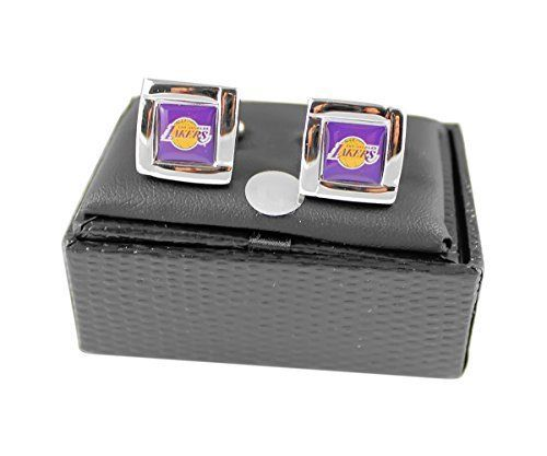 Los Angeles Lakers Team Logo NBA Square Cufflinks Gift Box Set by aminco. Los Angeles Lakers Team Logo NBA Square Cufflinks Gift Box Set.