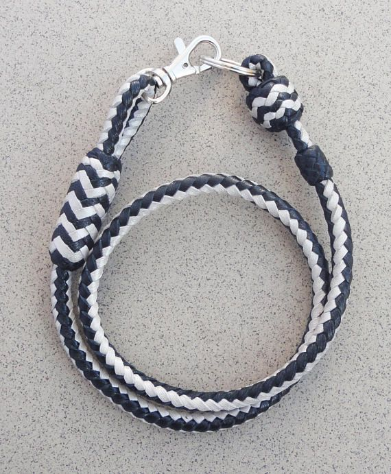 Genuine Braided Leather Wallet Chain Mens Keychain Leather