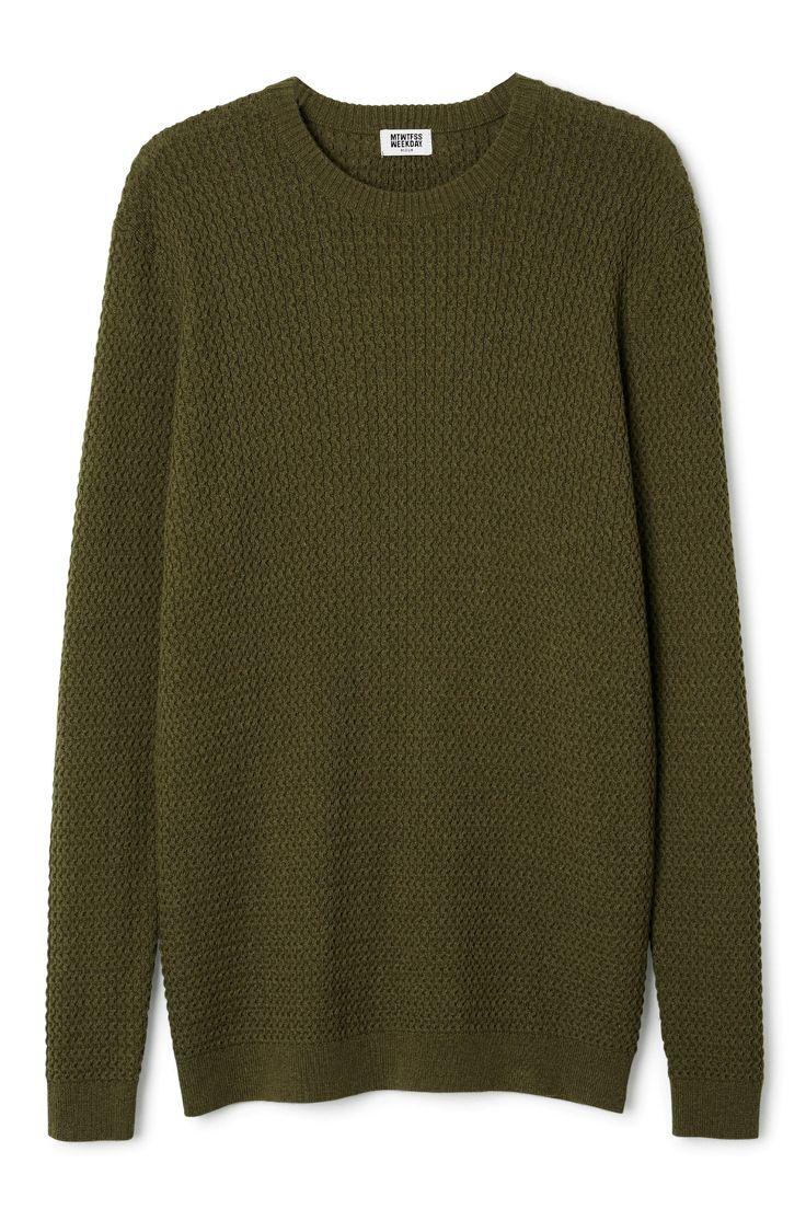 John Knit Sweater in Khaki Green