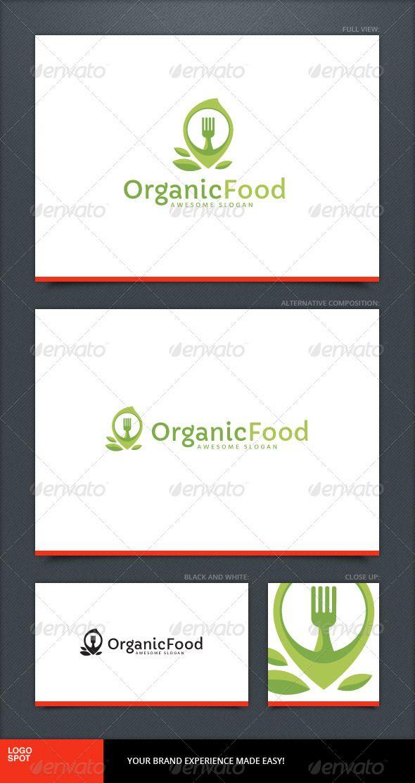 Organic Food Logo Template | Food stuff | Pinterest