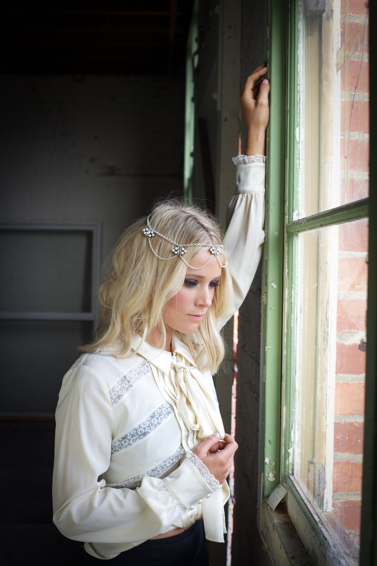 THE SNOW DOVE HEADPIECE - W O L F + E L K Shop the look http://wolfandelk.com.au/the-snow-dove/ #Headpiece #Headpieces #Handbands #BridalHeadpiece #WeddingHeadpiece