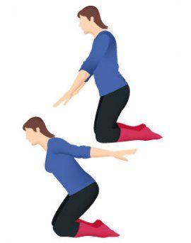 Ecartez vos bras et faites-les bouger d'avant en arrière et d'arrière en avant. Pas de précipitation: ce mouvement se pratique en douceur, voire en lenteur.