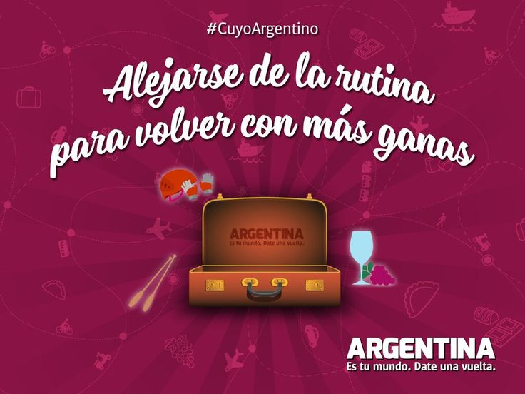 Te mostramos lo mejor de #CuyoArgentino  ¡Compartilo con quienes quieras viajar! Más info en http://www.argentina.tur.ar/n/cuyo/11  #ArgentinaEsTuMundo | #Argentina | #Viajar | #Cuyo | #CuyoArgentino | #Viajes