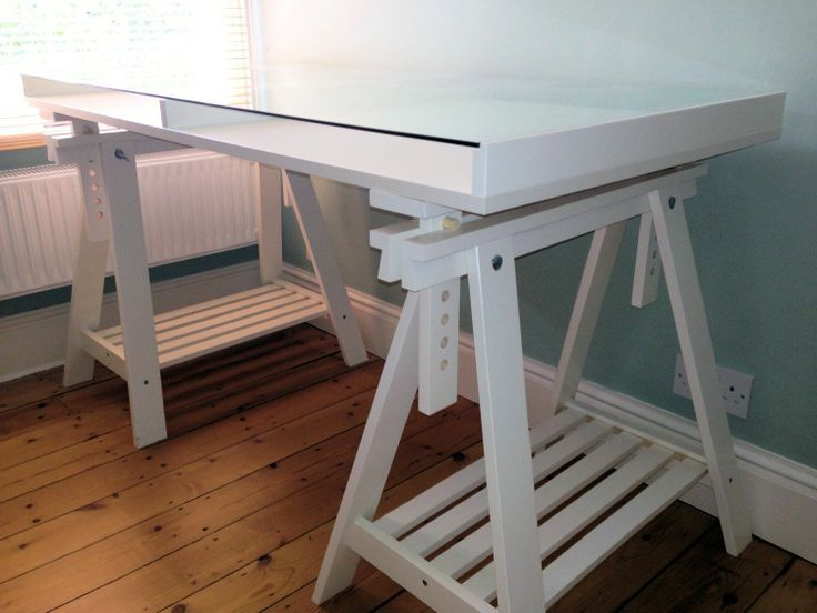 ikea office furniture desk details white glass display trestle table computer uk