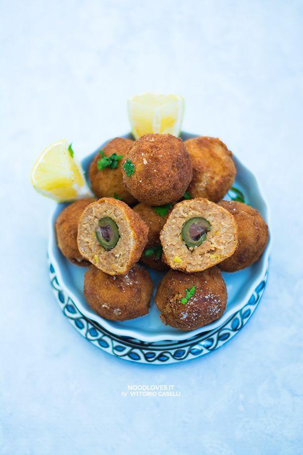 Olive ripiene in crosta di tonno