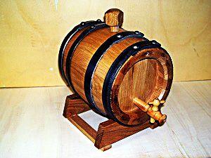 1957 - Botte in legno da 2 litri per invecchiamento grappa, nocino e distillati - Tel.0547 310171