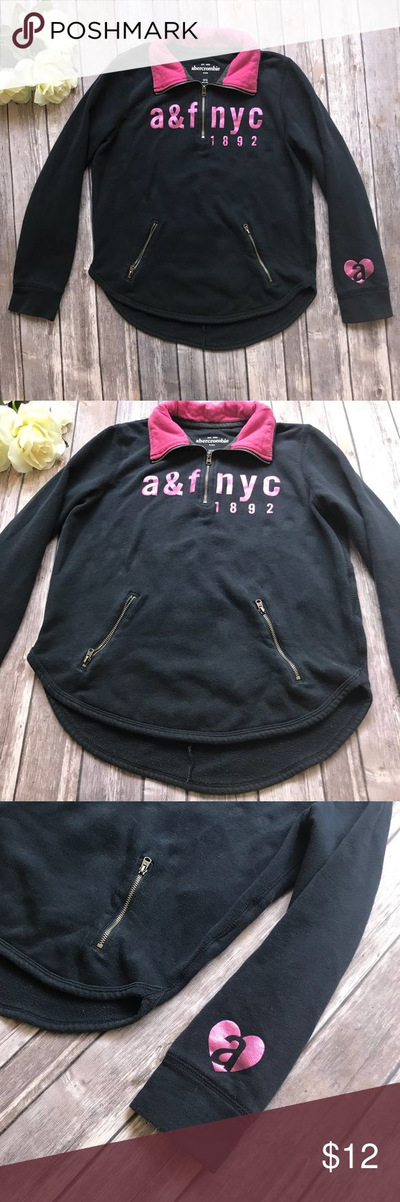 "Abercrombie kids girl navy blue pullover Abercrombie kids pullover  Navy blue with hot pink Size 15/16 Soft and lightweight    Measurements are approx: Bust- 19"" across laying flat  Length - 23""  ***Please look over all pictures, use zoom if needed.  Your satisfaction is important to me.  Please feel free to ask me for additional details***  Top rated seller Fast Shipper  Posh Ambassador Abercombie Kids Shirts & Tops Sweatshirts & Hoodies"