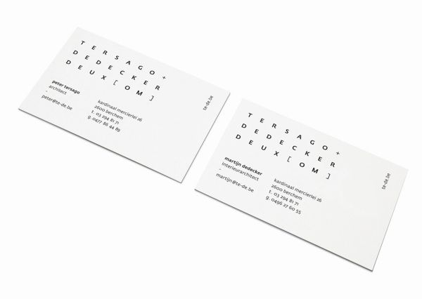 tersago dedecker deux om by studio newwork via behance branding pinterest. Black Bedroom Furniture Sets. Home Design Ideas