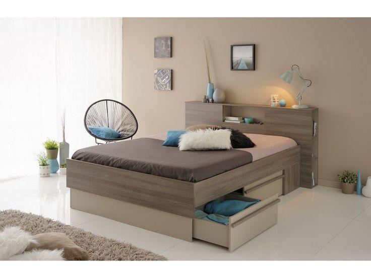 Les 25 meilleures id es concernant t te de lit brun sur pinterest meubles d - Encadrement de lit 140x190 ...