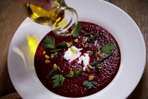 Холодный свекольный суп  «Гаспачо»