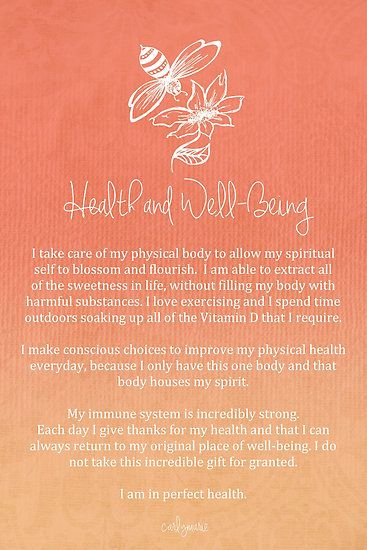 Affirmation - Health and Well-Being by CarlyMarie