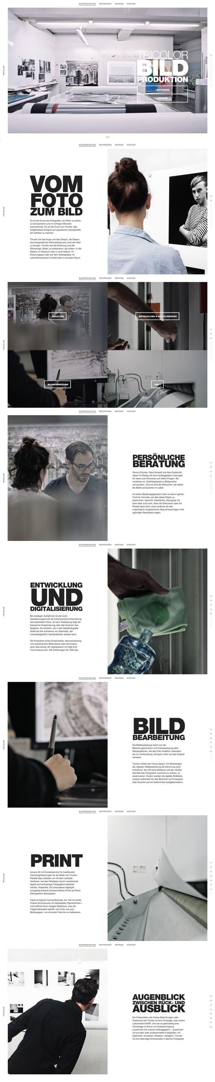 Vom Foto zum Bild Tricolor  #webdesign #hinderlingvolkart #design #indentity #ux #ui #html5 #video #scroll  http://www.tricolor.ch/