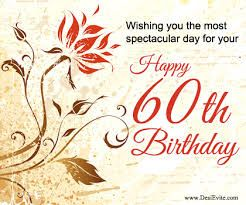 Image result for 60th happy birthday wishes