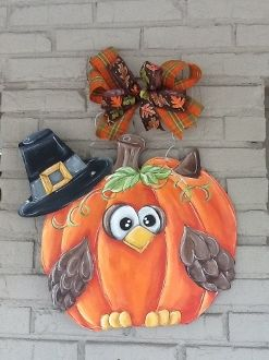 Pumpkin with Owl