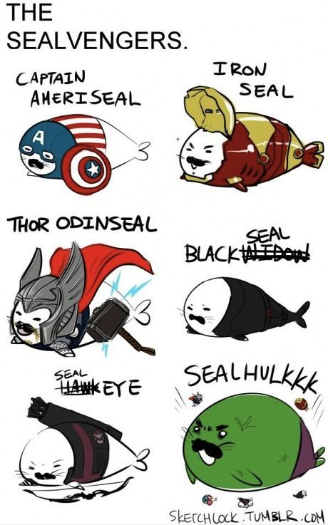 The Avengers as seals...