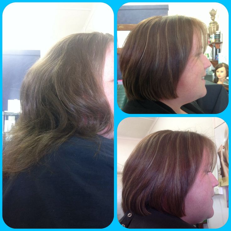 Before and after photo done at the salon,Cosmic Cuts.Georgetown