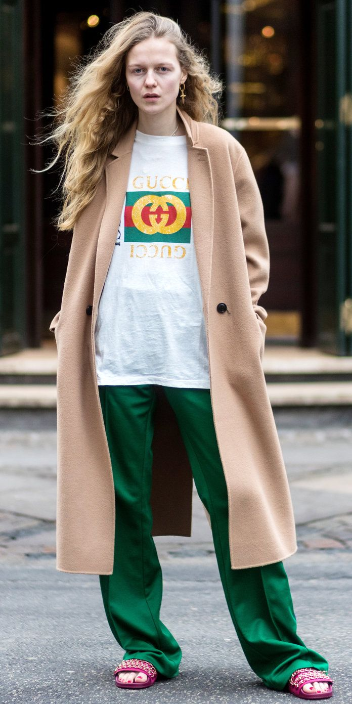 ea91882cb795 Everyone Is Wearing this Gucci Tee at Fashion Week | Fashion & style |  Fashion, Gucci tee, How to wear