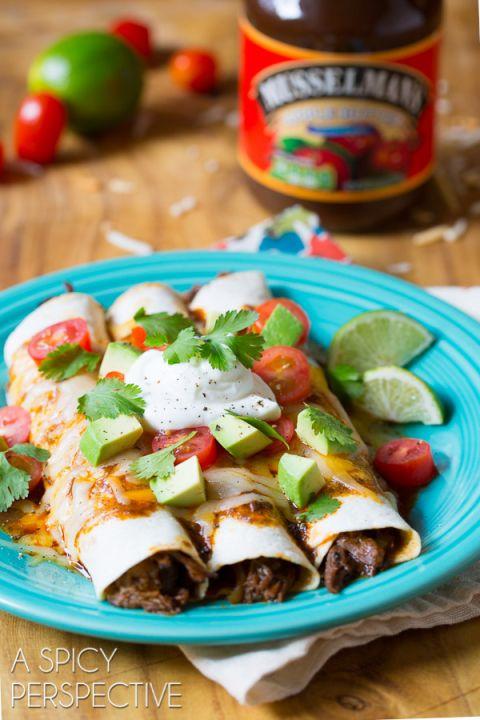 Simple Slow Cooker Beef Enchilada Recipe