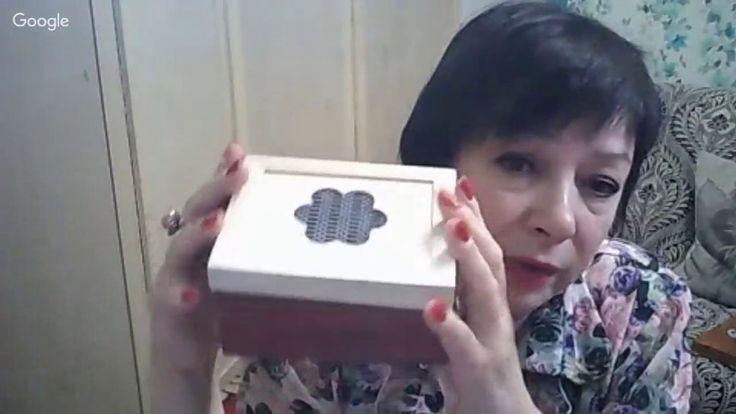 Фирдаус Батдалова.Вышивка лентами и декупаж на винтажной шкатулке
