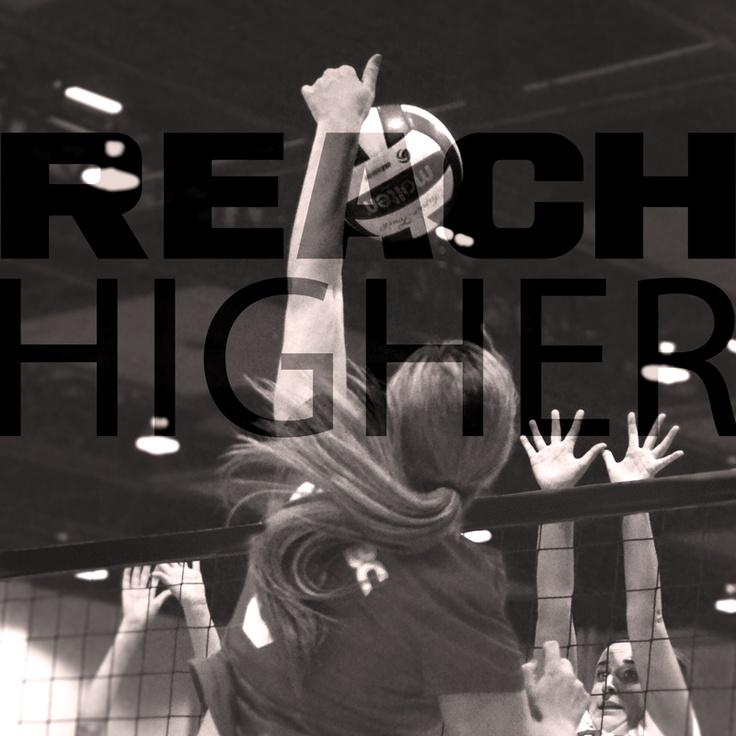 REACH higher! #volleyball #inspiration