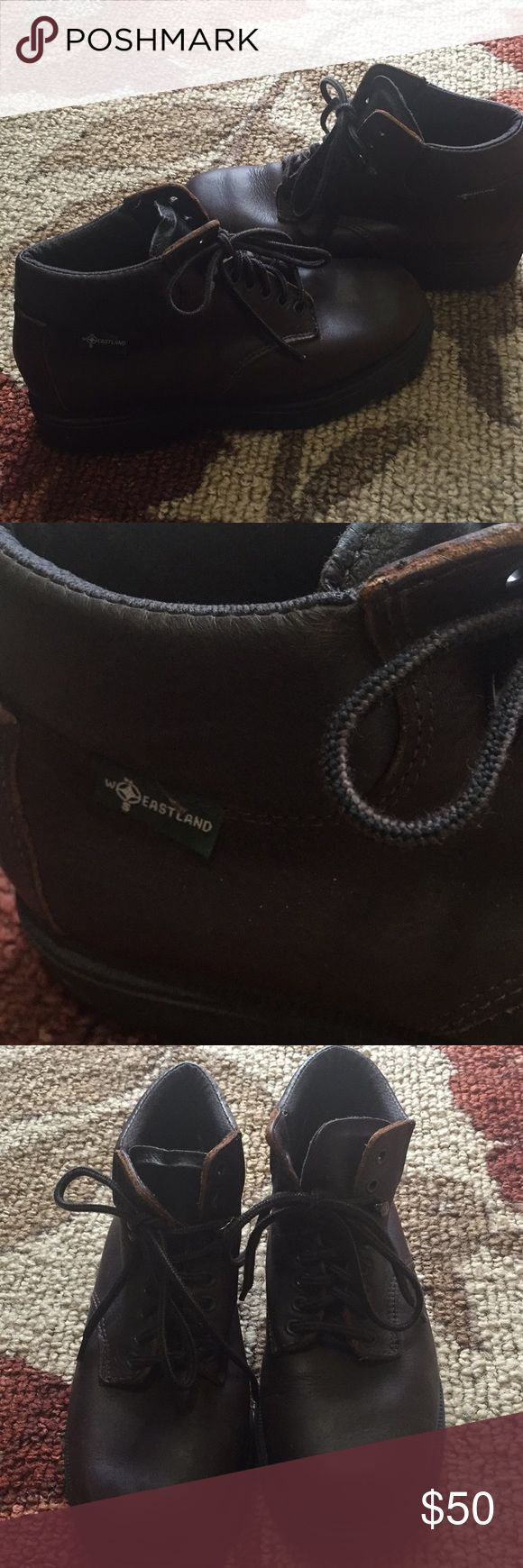 Vintage Eastland boots Vintage leather boots in excellent condition! Size 7.5, brown leather. Eastland Shoes Ankle Boots & Booties