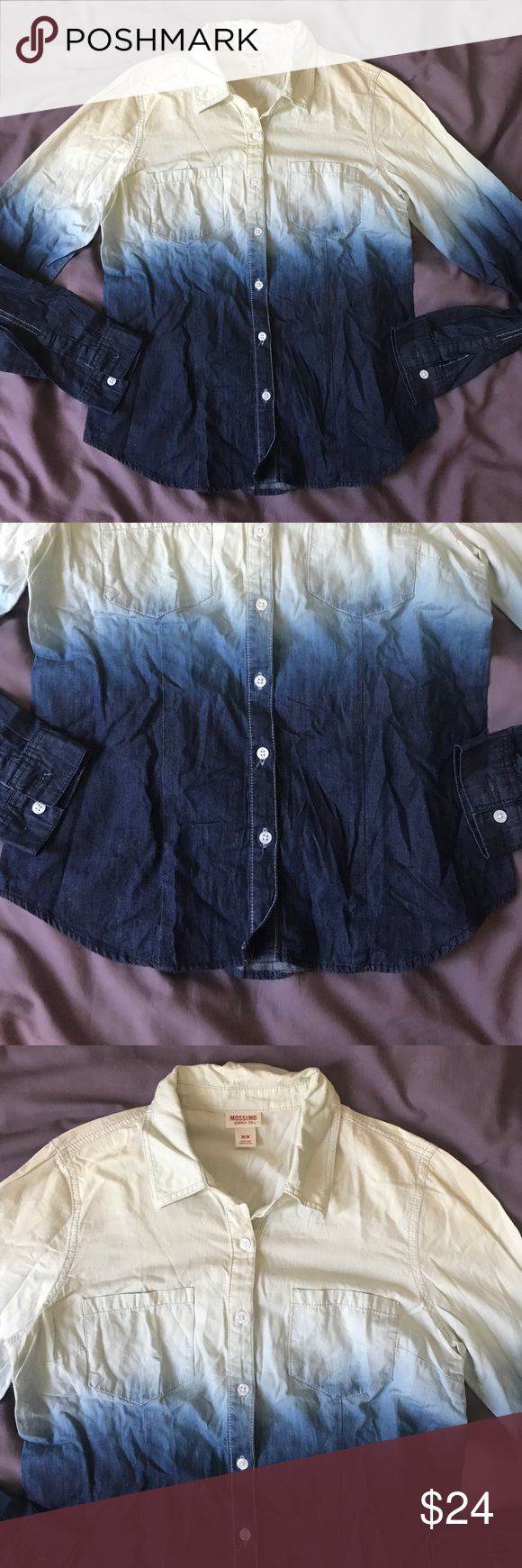 Mossimo cowboy acid wash shirt Mossimo button down acid wash cowboy shirt. New without tags, removed tags ended up being too big. MEDIUM Mossimo Supply Co Tops Button Down Shirts
