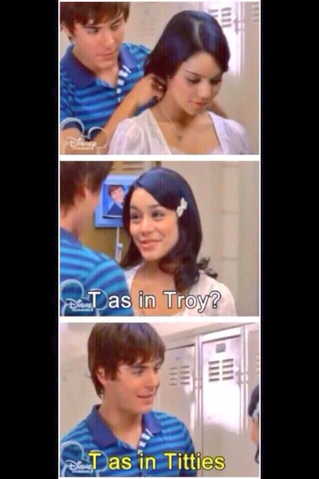 the most romantic scene from high school musical hahahahhaha