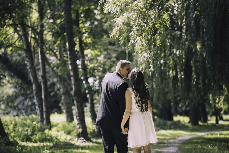 #love #wedding love wedding #couple couple #forest forest #wood wood #white white #dress dress #sunshine sunshine #green green