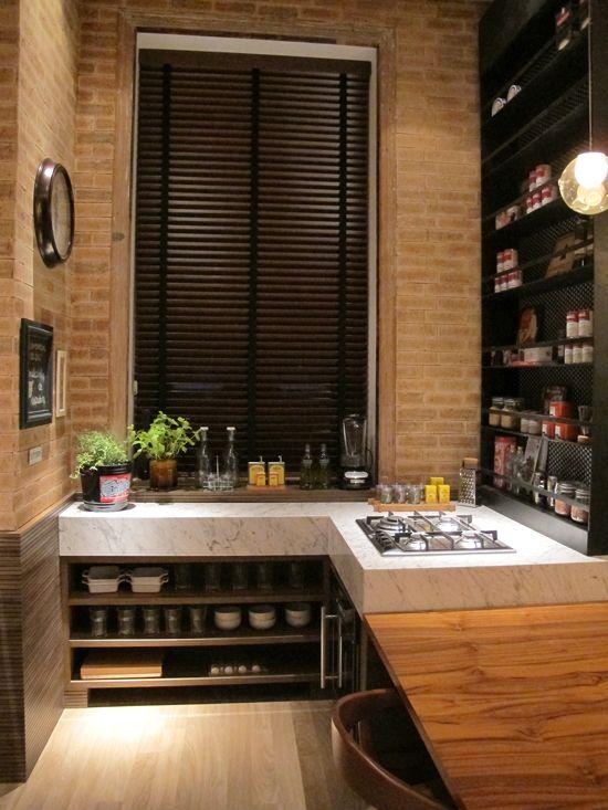 Inspiração Loft: Cozinha  Fonte: Decorviva!