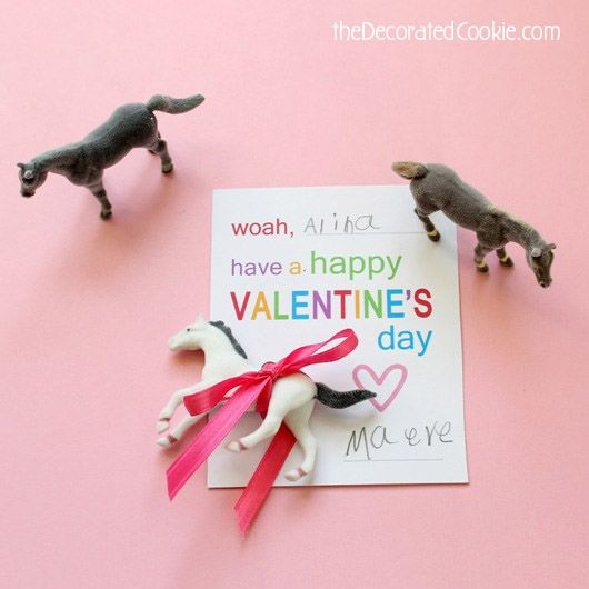 Horse Valentines Day Cards For Kids With Free Printable