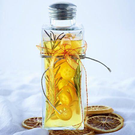 Geschenke aus der Küche: Orangenessig