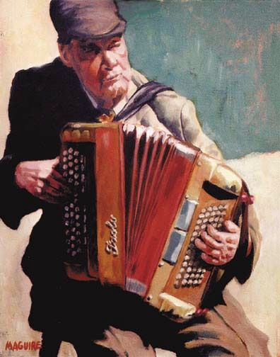 Galway Street Musician by Barrie Maguire on ArtClick.ie
