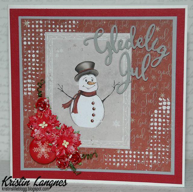 Det er jo snart jul og det er virkelig koselig å lage julekort som en del av juleforberedelsene.     På dette kortet har jeg brukt papir f...