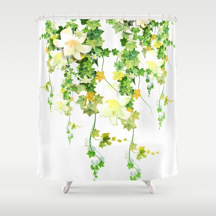 Buy Watercolor Ivy Shower Curtain By Nadja1 Worldwide Shipping Available At Society6 Com Just One Of Millions Of High Shower Curtain Patterned Shower Curtain