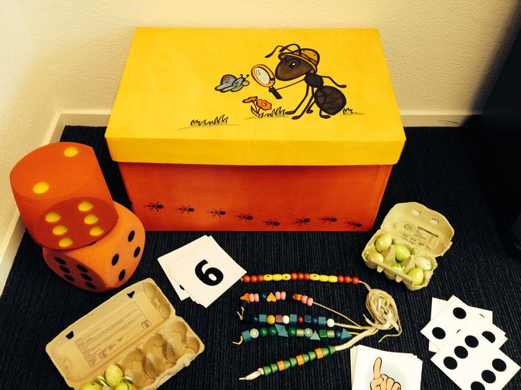 De doos van Miertje Maniertje vol rekenstructuren. Leer hem kennen in onze workshop!