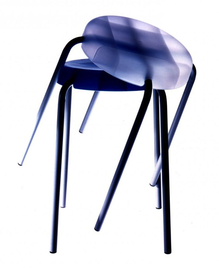 Leg Over stools by Sebastian Bergne, manufactured by Authentics. A stacking stool that can be assembled with one wing nut and a clip on top.  #Authentics #stool #polypropylene