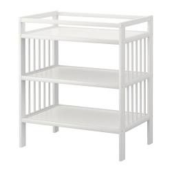 Changing Table - Baby Changing Table - IKEA- add topper and white and green baskets for storage.