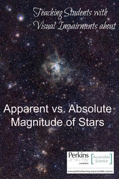 Interactive lesson to teach students with visual impairments about apparent vs. absolute magnitude of stars