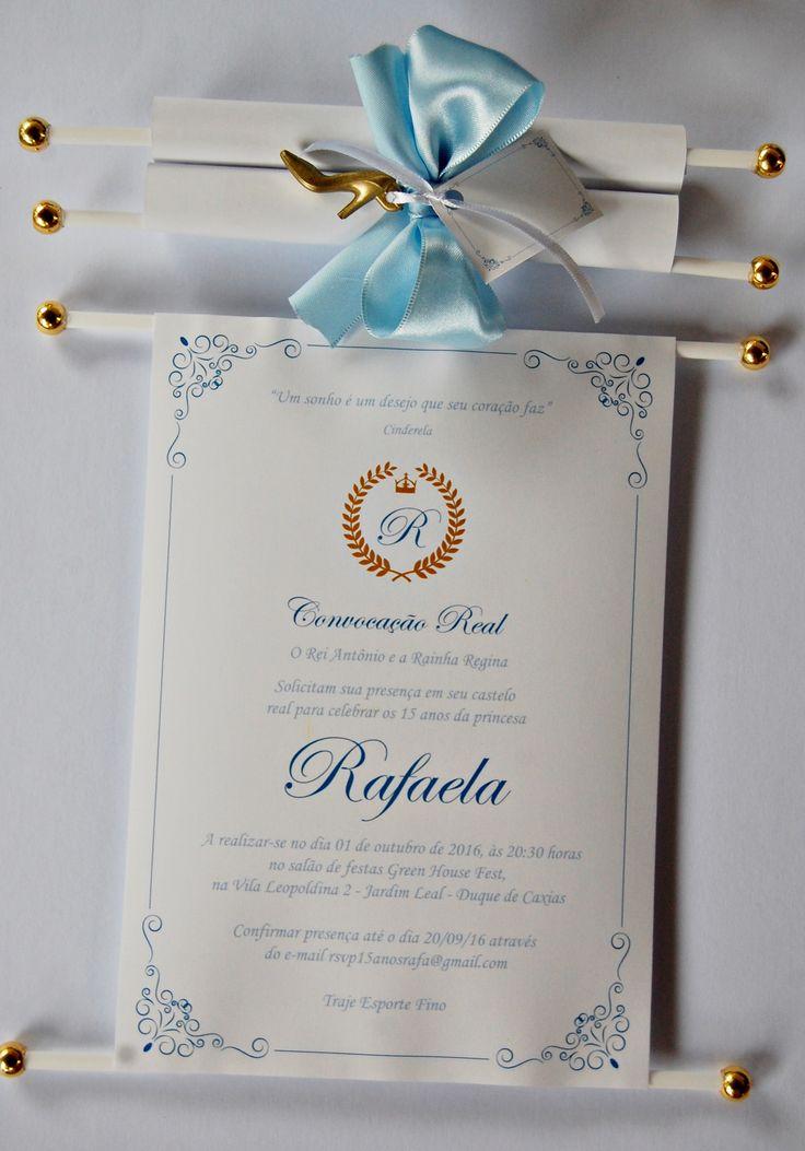 Convite Cinderela! Solicite orçamento: suzi@brigite.com.br