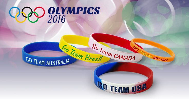 Show your love for the 2016 Rio Olympics with our custom-made silicone bracelets. Many people from young to old enjoy sports. The Olympics features 28 sports, including high jump, swimming, archery, weight lifting, and more. Almost all of the countries from around the globe are competing, including the U.S.A., Canada, India, Italy, and Brazil.
