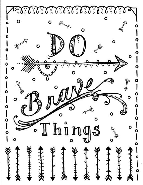 172 best Coloring Pages - Quotes & Words images on Pinterest ...