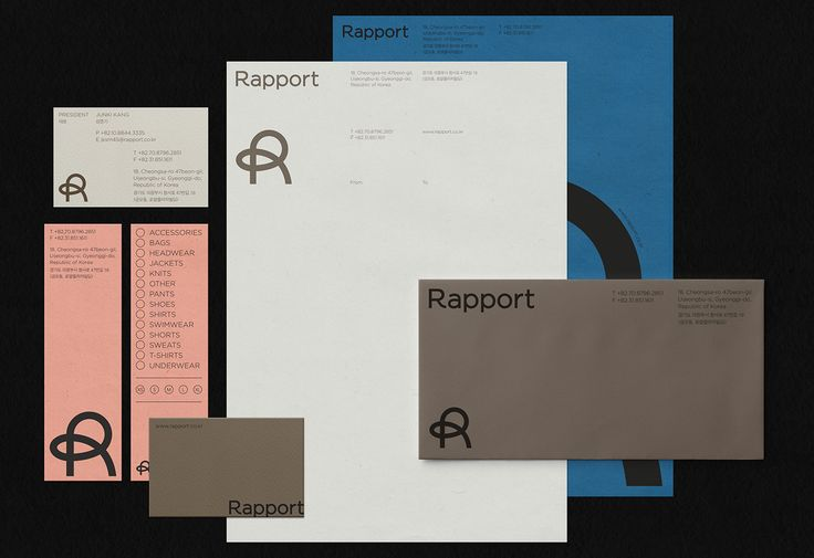 Identity for Rapport on Behance