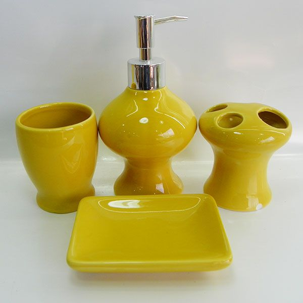 8 best images about yellow bathroom on pinterest for Bathroom accessories yellow